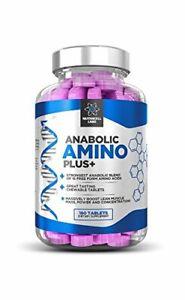 Anabolic Amino Acid Plus+ : Premium 15 Acids Blend BCAA + Vitamin B6...