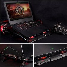 "5 Fans Red LED 2 USB Port Cooling Stand Pad Cooler For 12""-17"" Laptop Notebook"
