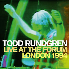 TODD RUNDGREN New Sealed 2017 LIVE 1994 LONDON FORUM CONCERT 2 CD SET