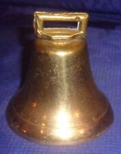 "BM039 Antique Solid Cast Brass Cow Bell 3"" Dia."