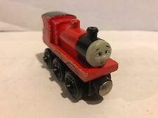 JAMES GOES BUZZ BUZZ RED NOSE 1999 Thomas Train Wooden RARE Retired -ENGINE ONLY