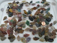 "300 Pieces 1/2"" - 1"" Assorted India Handmade Agate Arrowheads Bulk Lot (FC-33)"