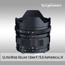 New Voigtlander Ultra Wide-Heliar 12mm f/5.6 Aspherical III Lens for Sony E