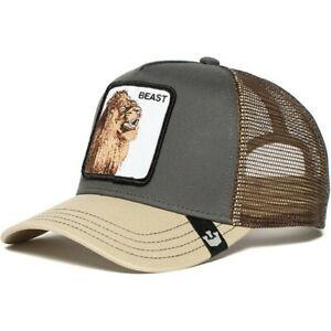 New Beast Brown Goorin Bros Lion Animal Farm Trucker Mesh Baseball Snapback Cap