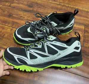 Merrell Men's Capra Bolt Hiking Shoes Black/Silver Size 10.5 E