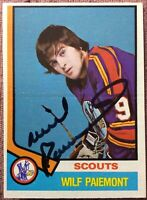 **SIGNED ROOKIE CARD** 1974-75 OPC #292 **WILF PAIEMENT** ~ **EX+NM** Bold Auto!