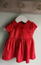 Baby Girls Pretty Red Velour Christmas Party Dress Outfit 3-6 Months