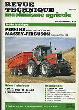 (3B)REVUE TECHNIQUE MACHINISME AGRICOLE TRACTEUR MASSEY FERGUSON / PERKINS DEUTZ