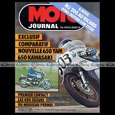 MOTO JOURNAL N°454 CHRISTIAN ESTROSI YAMAHA XJ 650 SUZUKI DR GN GSX 400 TEBEC 80