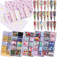 Holographicss Flower Nail Foils Decal Nail Art Transfer Stickers Decoration Tips