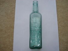 SCARCE CWW1 VINTAGE LEADER BRAND ESSENCE OF COFFEE AND CHICORY AQUA BOTTLE