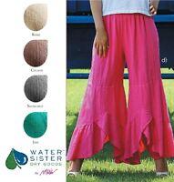WATERSISTER Cotton Gauze WAVY 2-Layer Tier Pant 1(S/M) 2(L/XL)3(1X+) DISC COLORS