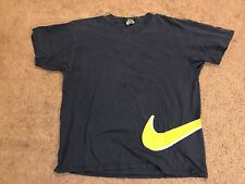 Swoosh By Nike Vintage 1990's T Shirt Size Large Blue Yellow
