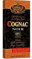 Camille Bloch Cognac Noir Schokolade 100 g Alcoholic Chocolate from Switzerland