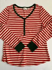 Nordstrom Lingerie Sleepyhead Thermal Pajamas  Top in Red Bloom size Large