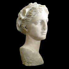 Greek Roman Bust head of Thalia the Muse of Comedy Sculpture Museum Reproduction