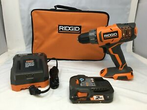 "Ridgid R8600521K 18V Cordless 2-Speed 1/2"" Compact Drill Kit A9"