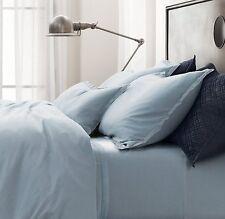 NEW Restoration Hardware Vintage Washed Jersey King Pillowcase Set Pacific Blue