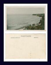 CANADA BC VANCOUVER QUALICUM BEACH HAND COLORED REAL PHOTO POSTCARD CIRCA 1955