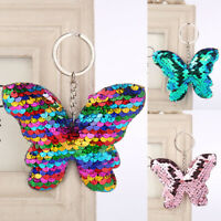 Pendant Holder Glitter Sequins Keychain Car Bag Accessories Butterfly Key Ring