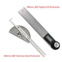 200MM Digitaler LED 360° Winkelmesser 100MM 180° Winkellineal Edelstahl