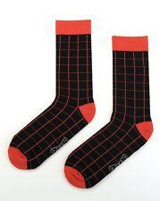 Mens Cotton Business Socks Crew Work Dress Wedding Socks Size40-46 Black Navy