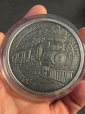 5 pouces 999 Feinsilber Hobo Nickel Séries Le Train Argent Finition Antique 1913