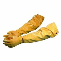 NEW Atlas 772 Large 26 inch Nitrile Chemical Resistant Gloves  Yellow 1 Pair