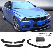 Universal Black with White Line ABS Front Bumper Protector Lip Spoiler Splitter
