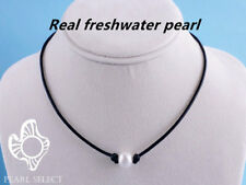 Fashion Pearl Dermis Leather Choker Simulated Pearl Handmade Leather Necklace