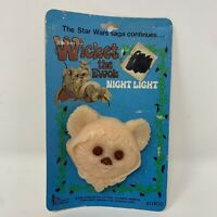 Vintage Star Wars Wicket the Ewok Plug in Night Light (1983) Original Packaging