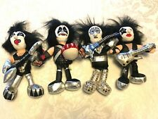 1998 KISS DOLLS BAND BEAN BAG PLUSH SET Gene Simmons with TAGS Except Paul VG+