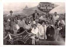 1971 Vintage Retro Photo Group at PIKES PEAK Summit 14110 FT Sign COLORADO