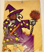Vintage Eureka Halloween Witch Stirring Cauldron / Pot Honeycomb Tissue Diecut