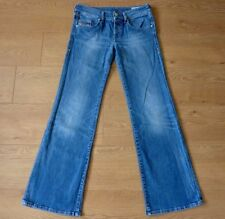 Diesel VIXY Ladies Bootcut Stretchy Button Fly Blue Jeans Size W26 L32