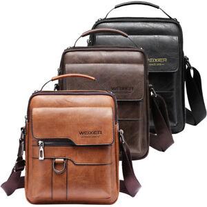 Leather Business Bag Shoulder Messenger Bag for Men Women Cross Body Bag Handbag