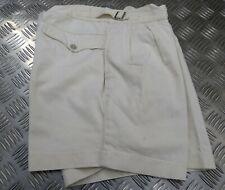 Genuine Vintage British Royal Navy Issue (RN) White Cotton Drill Uniform Shorts