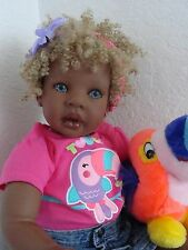 "Reborn 22"" Toddler Girl Doll ""Sefina"" -Dark Skin tone ethnic"