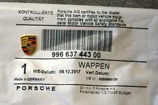 Porsche Replacement Logo Emblem Key Fob Genuine Color Crest 911 Boxster Carrera