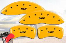 "2007-2012 Sentra Front + Rear Yellow ""MGP"" Brake Disc Caliper Covers 4p Set"