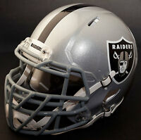 *CUSTOM* OAKLAND RAIDERS NFL Riddell SPEED Full Size Replica Football Helmet