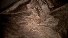 top qualite !! tissu suedine daim velours col marron foncé  50x140 cm