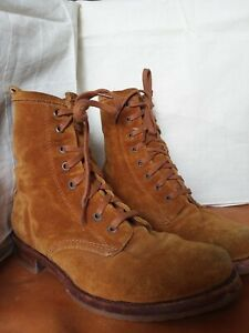 Gorgeous FRYE Women's Brown Suede Combat Boots Size 8.5 M - Excellent condition