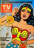 TV Guide 1977 Wonder Woman Lynda Carter Charlie's Angels V25N5 #1244 MINT COA