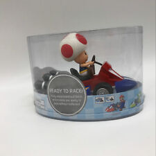 "Super Mario Bros. Mario Kart Toad Pull Back Racer PVC Plastic Figure Car Toy 5"""