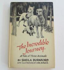 The Incredible Journey ~ Sheila Burnford Tale Of Three Animals Dogs Cat Book HB