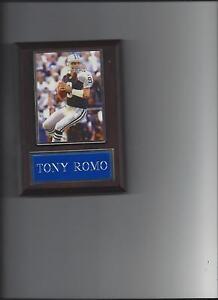 TONY ROMO PLAQUE DALLAS COWBOYS FOOTBALL NFL