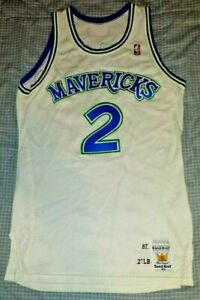 Rare Game Used Worn 1987-88 Dallas Mavericks Steve Alford #2 Rookie Jersey