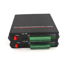 8CH Audio extenders for Intercom System /Broadcast, Audio over fiber optic 20Km