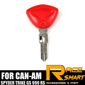 Replacement Blade Uncut Blank Key Red For CAN-AM SPYDER TRIKE GS 990 RS